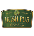 irish pub label design vector image vector image