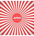 Japan Flag Background Retro Style Japan vector image vector image