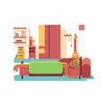 man sleep in bed vector image vector image