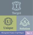 Monogram Frames Craft Shapes Set vector image vector image