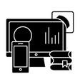 online education icon sig vector image vector image