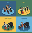 orchestra isometric 2x2 concept vector image vector image