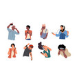 people listen to music dancing cartoon young vector image vector image