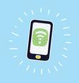 phone wifi icon vector image vector image