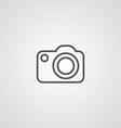 photo camera outline symbol dark on white vector image
