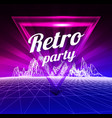 retro party poster 1980 style vector image