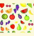 seamless pattern fruit vector image
