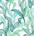 Seamless pattern with line leaves vector image vector image