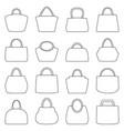 set bag icons vector image vector image