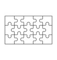 set black and white puzzle pieces vector image