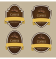 Set of dark labels Coffee theme vector image vector image