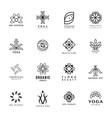 set yoga and spa logo