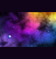 space background realistic color nebula with vector image vector image