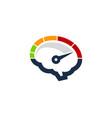 speedometer brain logo icon design vector image vector image