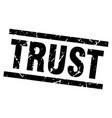 square grunge black trust stamp vector image vector image