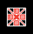 T-shirt with UK flag and inscription London vector image vector image