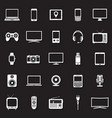 technology devices icons set vector image vector image