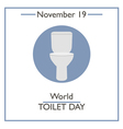 Toilet Day vector image vector image