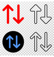 vertical exchange arrows eps icon with vector image vector image
