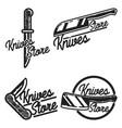 vintage knives store emblems vector image vector image