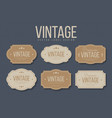 vintage labels and frames set design elements for vector image vector image
