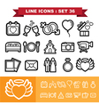 Wedding line icons set 36 vector image vector image