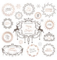 winter vintage wreath christmas calligraphic vector image vector image