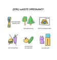 zero waste pregnancy doodle icons set vector image vector image