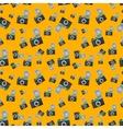 Lomography film camera on orange background vector image