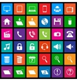 Media icons in Flat Metro Style vector image