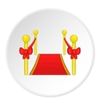 Red carpet icon cartoon style vector image