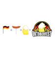 Oktoberfest logo Emblem Beer Festival in Germany vector image