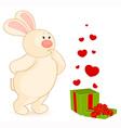 Valentines bear vector image