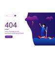 404 error web pages lost in ocean blue vector image vector image