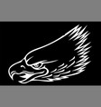 a eagle head mascot in the black vector image vector image