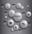 Abstract info graphic white round element poster vector image