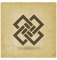 abstract interlocking squares vintage background vector image vector image