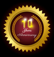 Anniversary label design vector image vector image