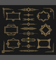 art deco frame and border ornament set vector image vector image