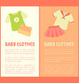 baby clothes framed banners vector image vector image