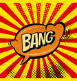 big bang retro sign template heart speech bubble vector image vector image