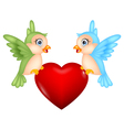 Bird with love heart vector image