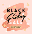 black friday sale inscription invitation banner vector image vector image