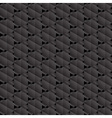 Black hexagons seamless pattern vector image