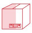 box carton isolated icon vector image vector image
