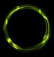 bright green glossy iridescent ring circle vector image vector image