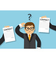 businessman chooses a profitable contract vector image vector image