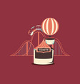 carnival roller coaster hot air balloon booth vector image