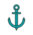cartoon anchor nautical travel maritime vector image vector image