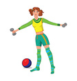Cartoon young woman working out vector image vector image